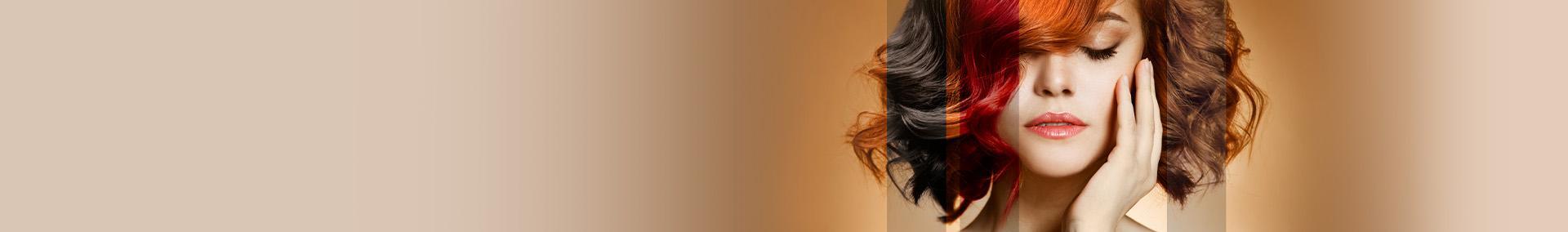 kobieta z wymodelowanymi włosami - banner
